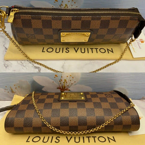 Louis Vuitton Eva Damiar Ebene Clutch (AA4143)