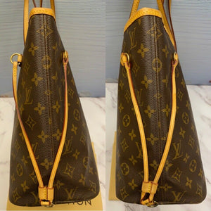 Louis Vuitton Neverfull MM Monogram Beige Tote (SA1190)