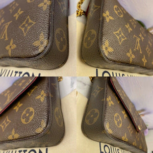Louis Vuitton Felicie Monogram Fuchsia Clutch (MI1126)