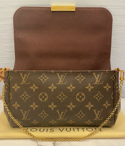 Louis Vuitton Favorite MM Monogram Clutch Purse (DU0173)