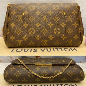 Louis Vuitton Favorite MM Monogram Clutch Purse (FL3186)