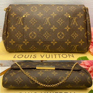 Louis Vuitton Favorite MM Monogram Clutch Purse (SA3186)