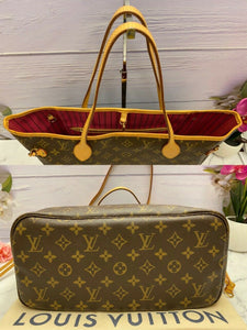 Louis Vuitton Neverfull MM Monogram Pink (SR3196)