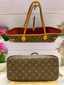 Louis Vuitton Neverfull MM Monogram Pink Interior Tote (AR0187)