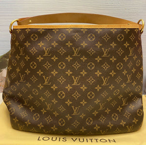 Louis Vuitton Delightful MM Monogram Beige Shoulder Bag (FL3162)