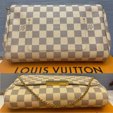 Load image into Gallery viewer, Louis Vuitton Favorite MM Damier Azur Clutch Bag (DU1127)