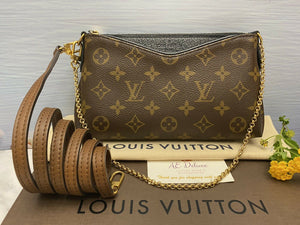 Louis Vuitton Pallas Noir/Black Clutch (GI2176)