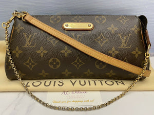 Eva Monogram Chain Clutch Crossbody Purse (AA1150)