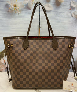 ❤️ Louis Vuitton Neverfull MM Damier Ebene Tote (TJ0144) ❤️