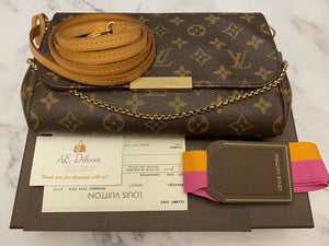 Louis Vuitton Favorite MM Monogram Bag (SD3194)
