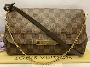 Louis Vuitton Favorite MM Damier Ebene Clutch (FL0177)