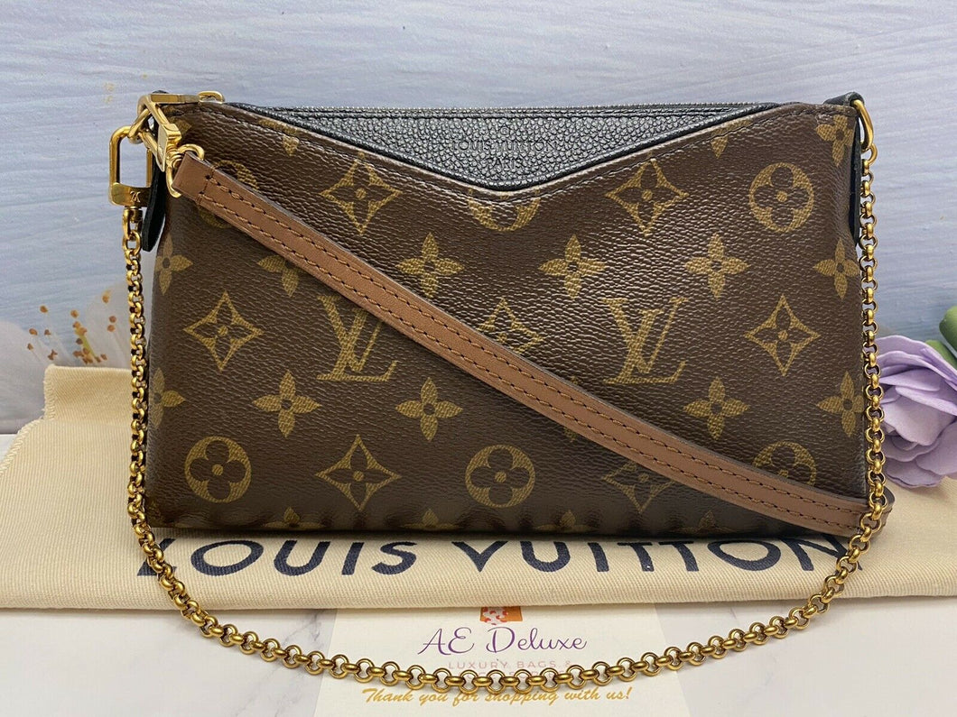 Louis Vuitton Pallas Noir/Black Chain Clutch (CA0166)