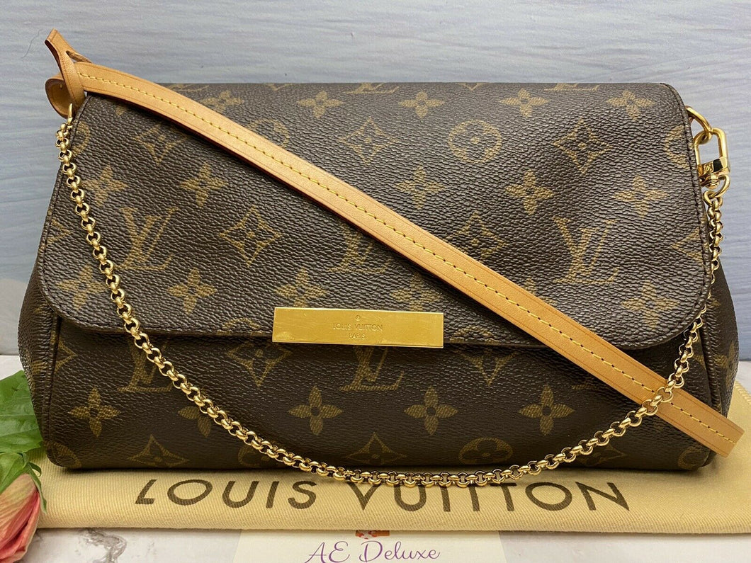 Louis Vuitton Favorite MM Monogram Clutch Purse (FL2192)