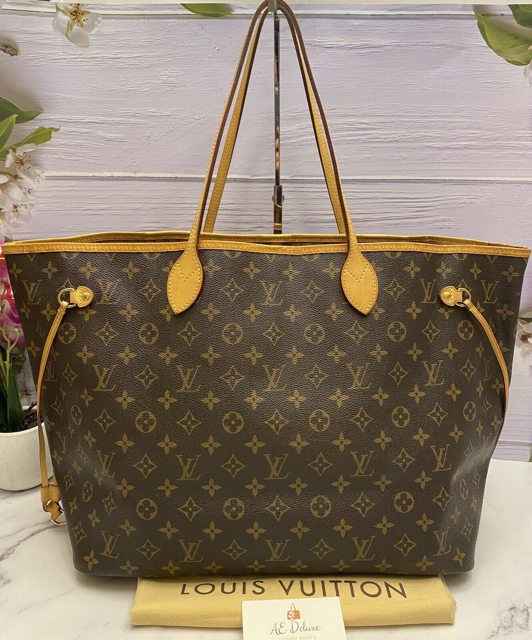 Louis Vuitton Neverfull GM Monogram Beige Tote (FL3087)
