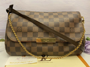 Louis Vuitton Favorite MM Damier Ebene Clutch (DU4186)