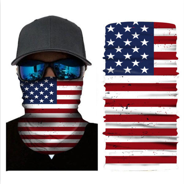 Variety Magic Bandanas Turban US Flag