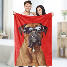 Custom Dog Blankets Personalized Pet Photo Fleece Personalised Blanket Painted Art Portrait