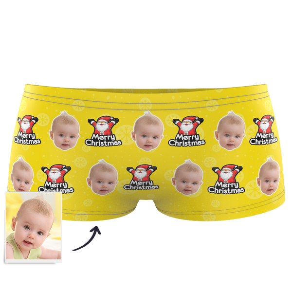 Kids Custom Face Boxer - Christmas Santa Claus