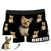 Custom Dog Boxer Shorts Painted Art Portrait - MyFaceSocksAU
