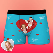 Custom Funny Face Cupid Love Heart Valentine's Day Men's Boxer