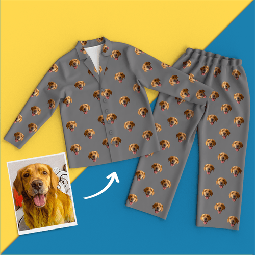 Custom Face Pyjamas Home Pyjamas - Dog