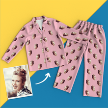 Custom Face Photo Pyjamas Long Sleeve Sleepwear Colorful