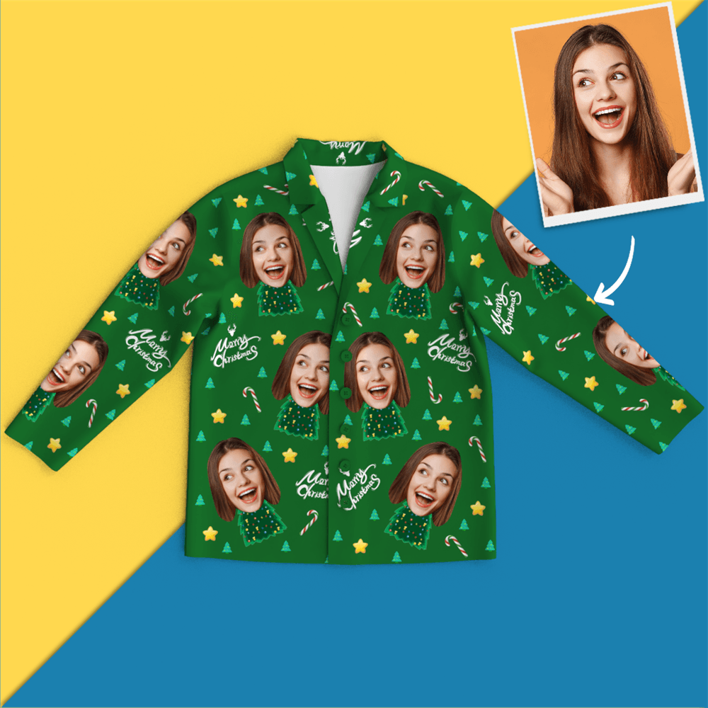 Custom Face Pyjamas - Christmas Tree