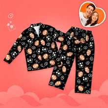 Valentine's Day Custom Face Love And Message Printed Long Sleeve Pajamas Set