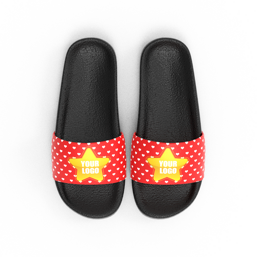 Custom Logo Slide Sandal Company Gifts For Her - Red