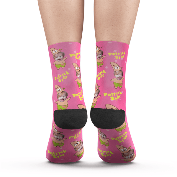 Custom Face Socks Patrick Star