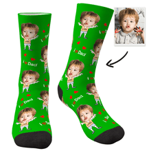 Custom Face Socks To The Dearest Dad-MyFaceSocksAU