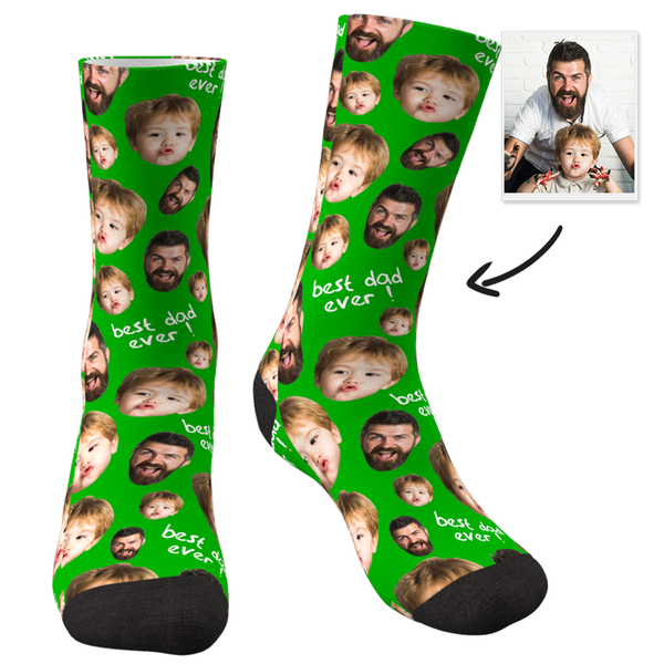 Custom Face Socks To The Best Dad-MyFaceSocksAU
