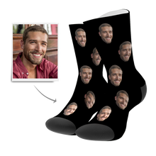 Custom Colorful Face Socks 3D Preview