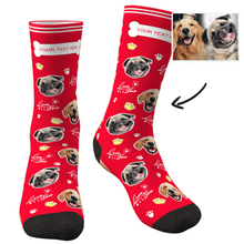 Custom Face Socks Love You Dog With Your Text - MyFaceSocksAU