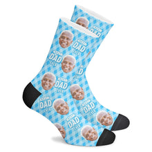 Custom Best Dad Ever Socks With Your Text - MyFaceSocksAU