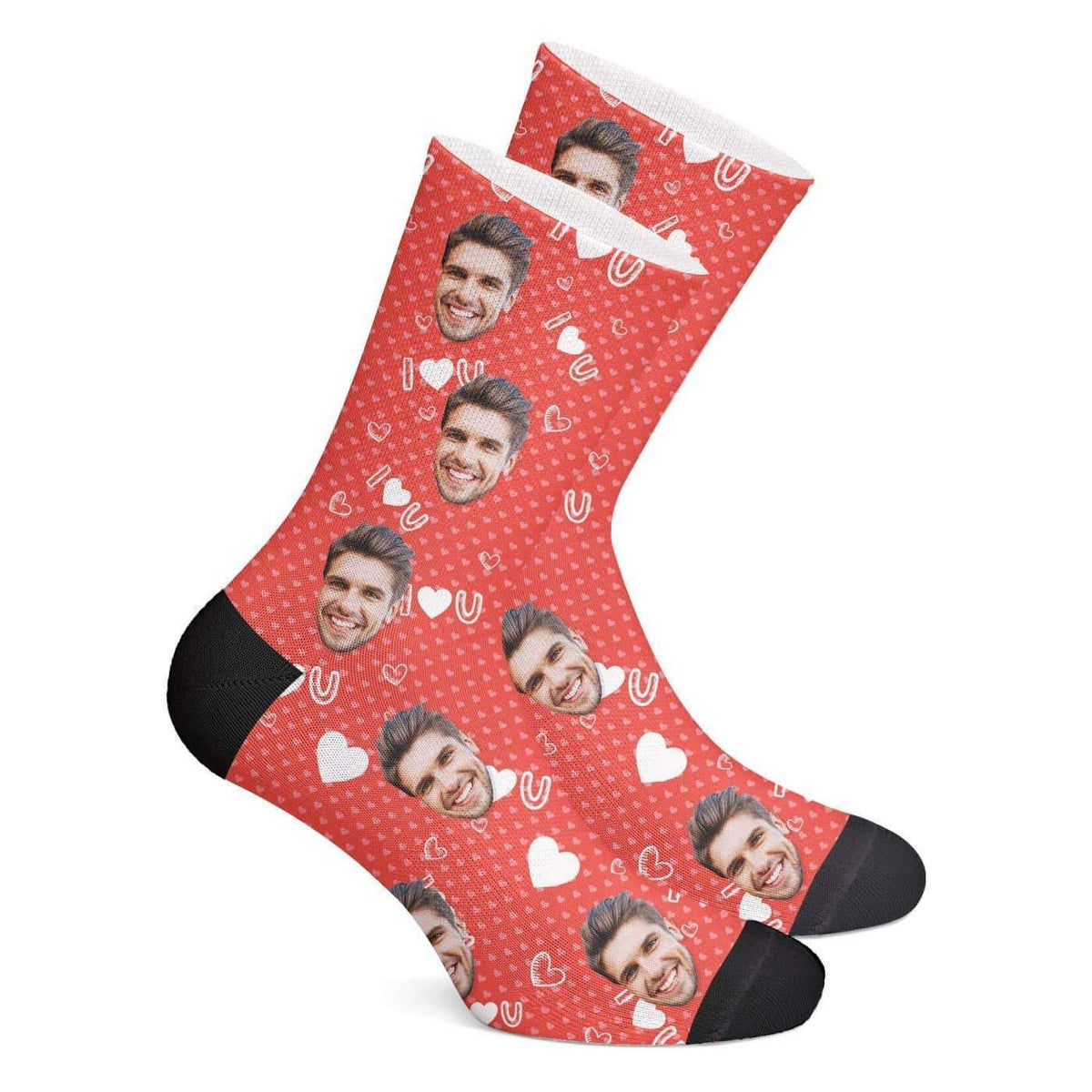 Custom Love Socks - Myfacesocksau