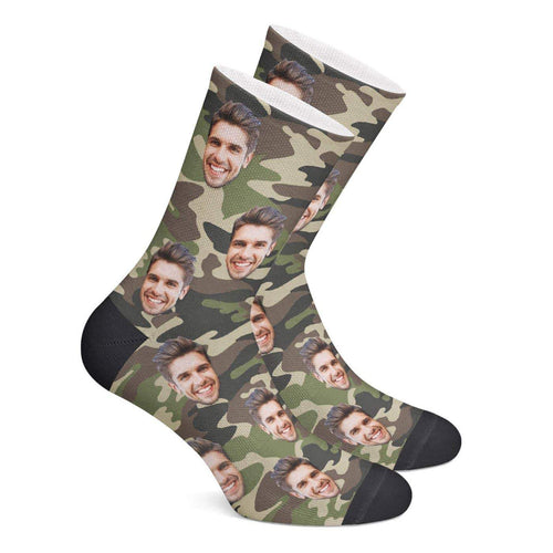 Custom Camo Socks (Green) - Myfacesocksau