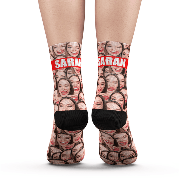 Custom Face Mash Socks With Your Text - MyFaceSocksAU