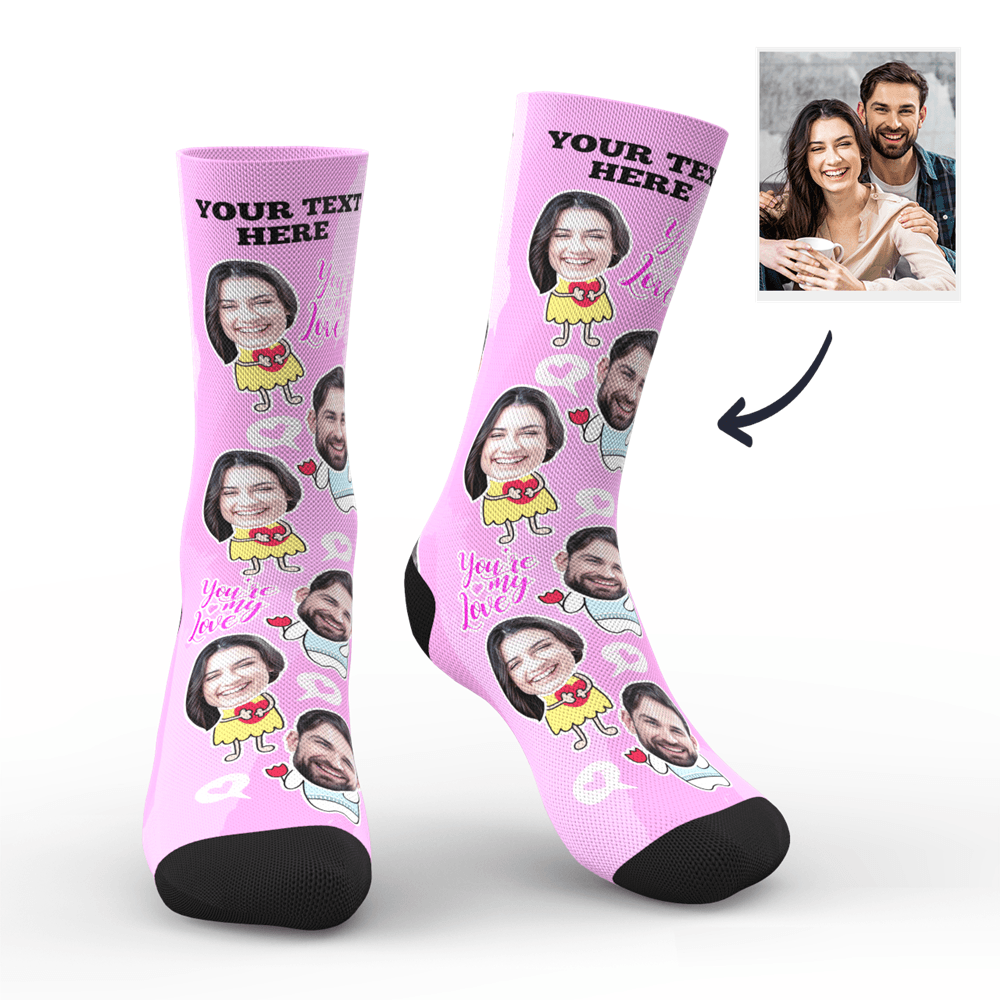 Custom Valentine's Day Socks With Your Text - MyPhotoSocks