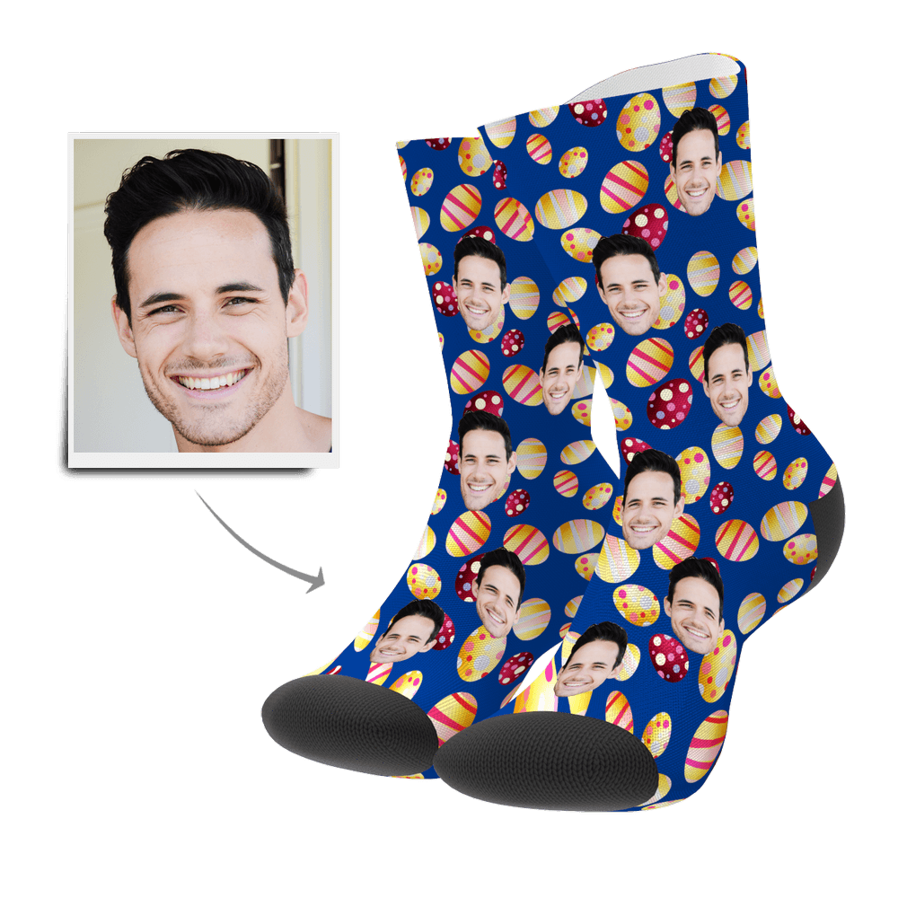 Custom Face Socks Color Easter Egg - Myfacesocksau