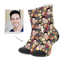 Custom Face Socks Color Easter Egg - MyPhotoSocks