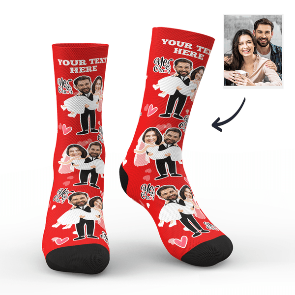 Custom Yes I Do Socks With Your Text - MyPhotoSocks
