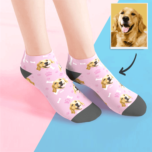 Custom Low cut Ankle Socks Dog - MyFaceSocksAU