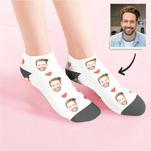 Custom Low cut Ankle Socks Heart - MyFaceSocksAU