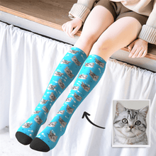 Custom Photo Knee High Socks Pet Cat