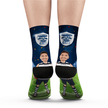 Custom Face Socks Geelong Cats Superfans AFL With Your Text