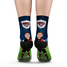 Custom Face Socks Essendon Bombers Superfans AFL With Your Text