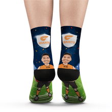Custom Face Socks GWS Giants Superfans AFL With Your Text