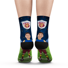 Custom Face Socks Brisbane Lions Superfans AFL With Your Text