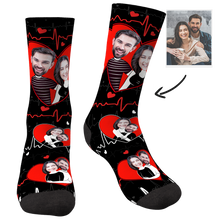 Custom Face Socks Heart Couples